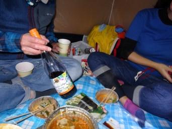 テントでボジョレーヌーボパーティ