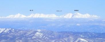 北アルプスの山々