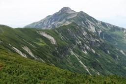 抜戸岳付近からの笠ヶ岳眺望