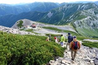 笠ヶ岳からの下山