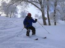 快適な新雪滑降