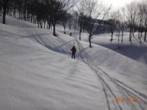 放山からの滑降