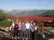 3日目も素晴らしい天気!常念小屋から見える槍ヶ岳、そしてキレット!