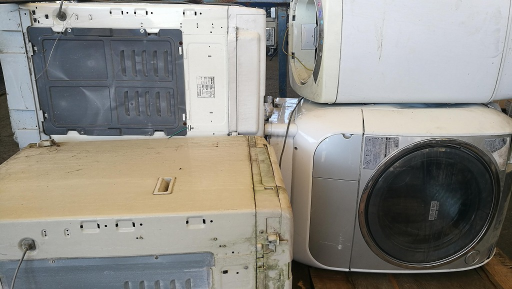 野外放置の壊れた洗濯機の回収、茨城県水戸市