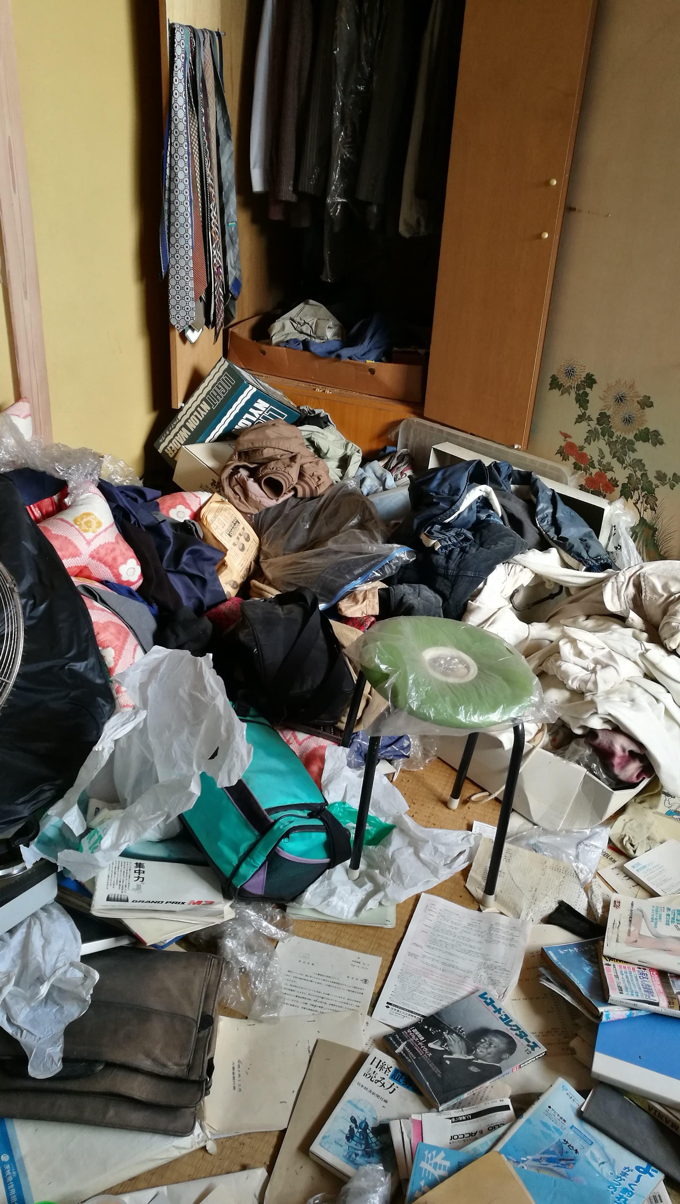 高齢者の部屋の片付け、茨城県