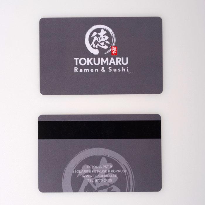 Tokumaru ramen sushi plastikkaardid