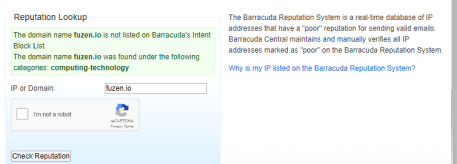 sender reputation check with barracuda central