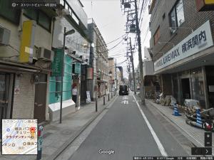 関内、曙町にあるクラブダンディー。Googleストリートビューより