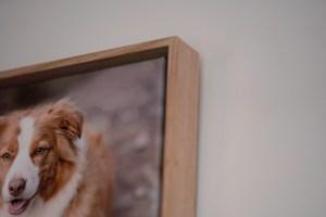 Framed canvas detail