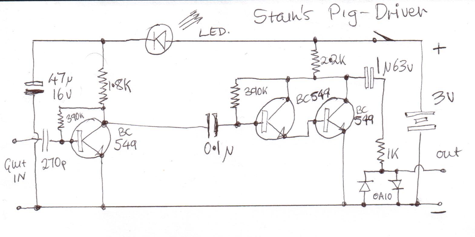 fuzz face wiring diagram 2001 dodge grand caravan radio no led simple winch control