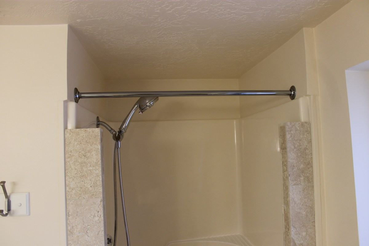 Installing a Shower Curtain Rod  Todays Project