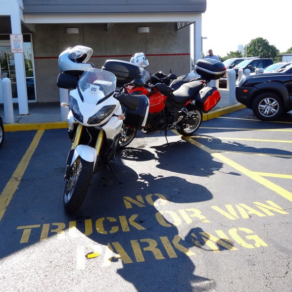 Sunny skies and smooth sailing at our first gas stop