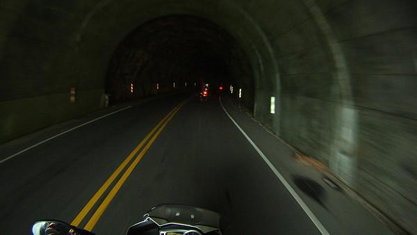 Inside a dark BRP tunnel