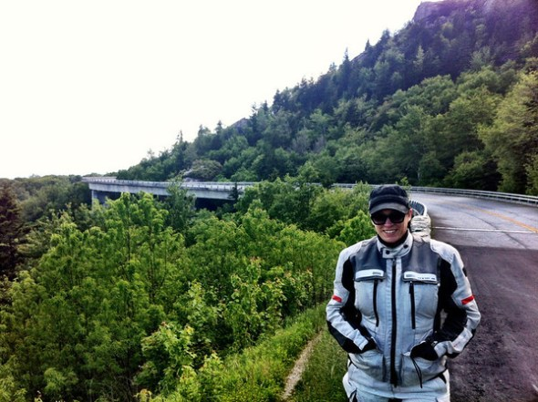 Me at the Linn Cove Viaduct