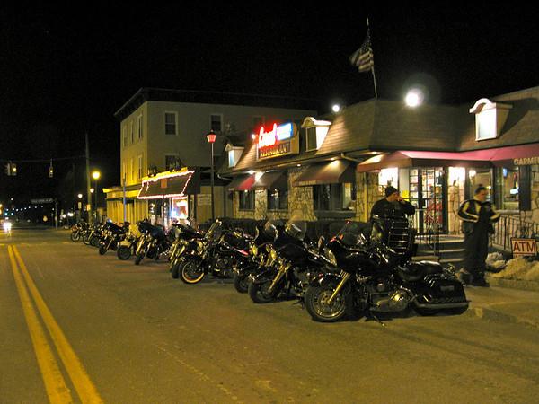 Crotona Midnight Run - Bikes at the Carmel Diner