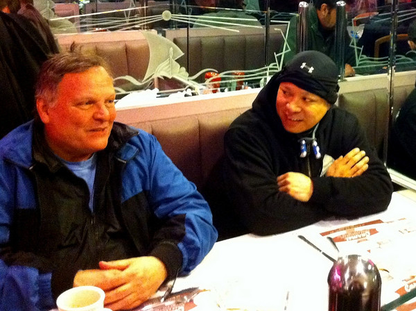 Bob and Pete at the Carmel Diner