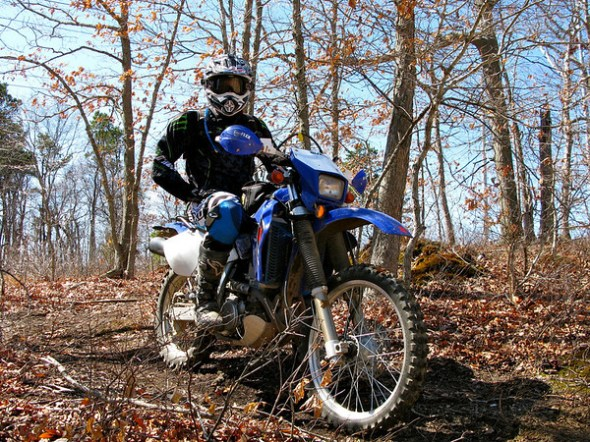 Kenny - My Handsome Devil on his DRZ