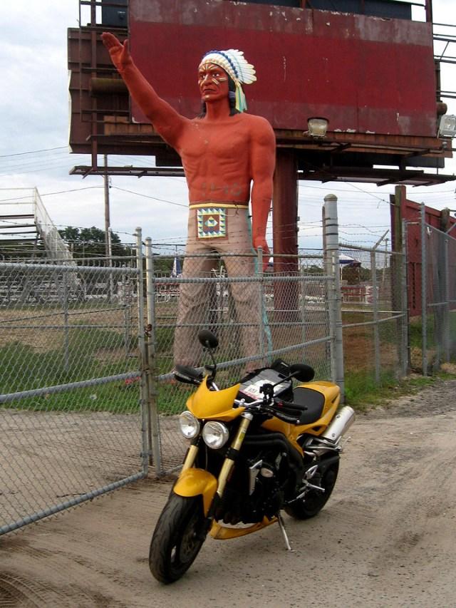 Muffler Man Indian Riverhead Long Island Raceway as seen on the Sopranos!