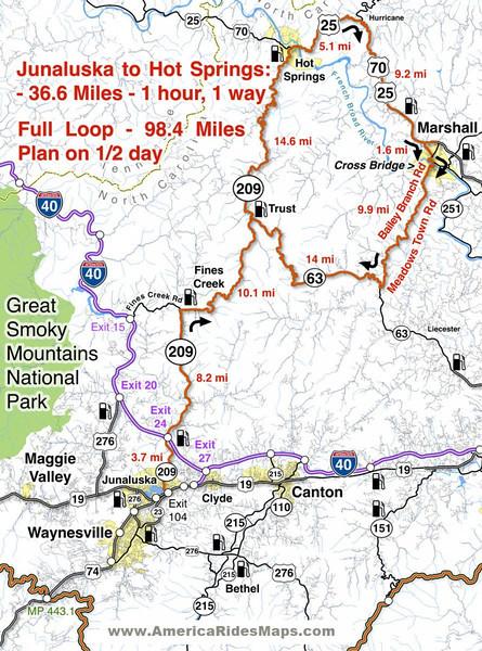 NC 209 America Rides Maps