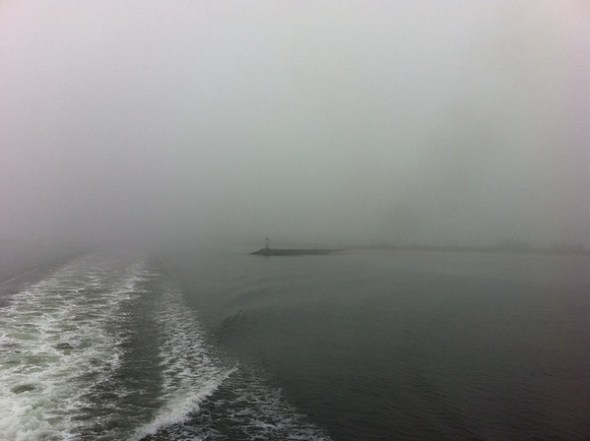 On the Port Jeff Ferry in the fog