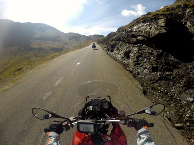 fuzzygalore riding on the Col de L'Iseran