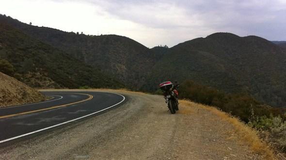 Riding on CA 49