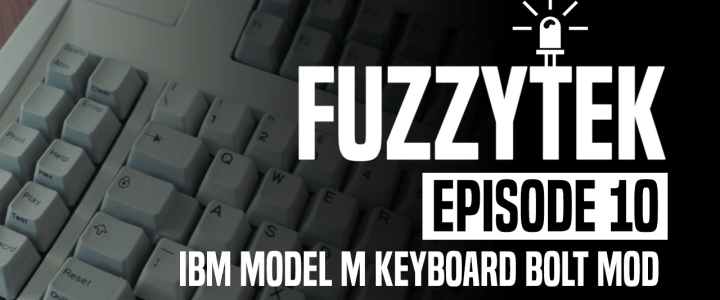 FuzzyTek EP10 // IBM Model M Keyboard Bolt Mod