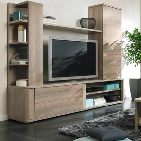 a picture of living room black and white striped rug furniture units village tv stands sale