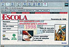 Na foto, um registro histórico do primeiro desenho do site de NOVA ESCOLA