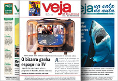 First copies of VEJA NA SALA DE AULA, a publication that connects informative reports from VEJA magazine with the high school curriculum