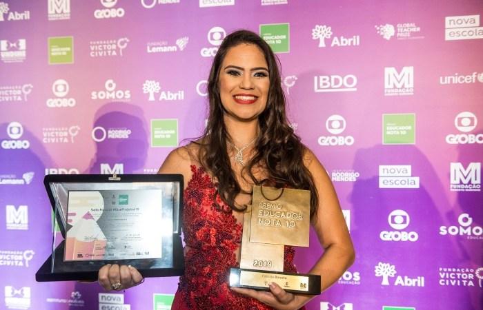 Patrícia Barreto recebe a homenagem da Votação Popular #EsseProjetoé10