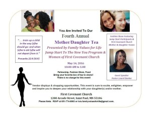Annual Mother Daughter Tea