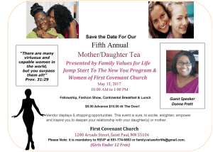 The 6th Annual Mother's Daughter Tea