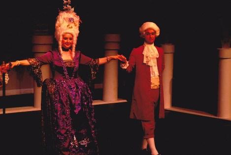 The Duchess of Plaza-Toro (Michelle Collier) dances with Giuseppe (Dann Wilhelm).