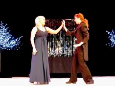 """Chelsea Rose Tucker and Joni Hayden-Summerton perform a song from """"Phantom of the Panto"""" at the 2013 CTC Awards Gala."""
