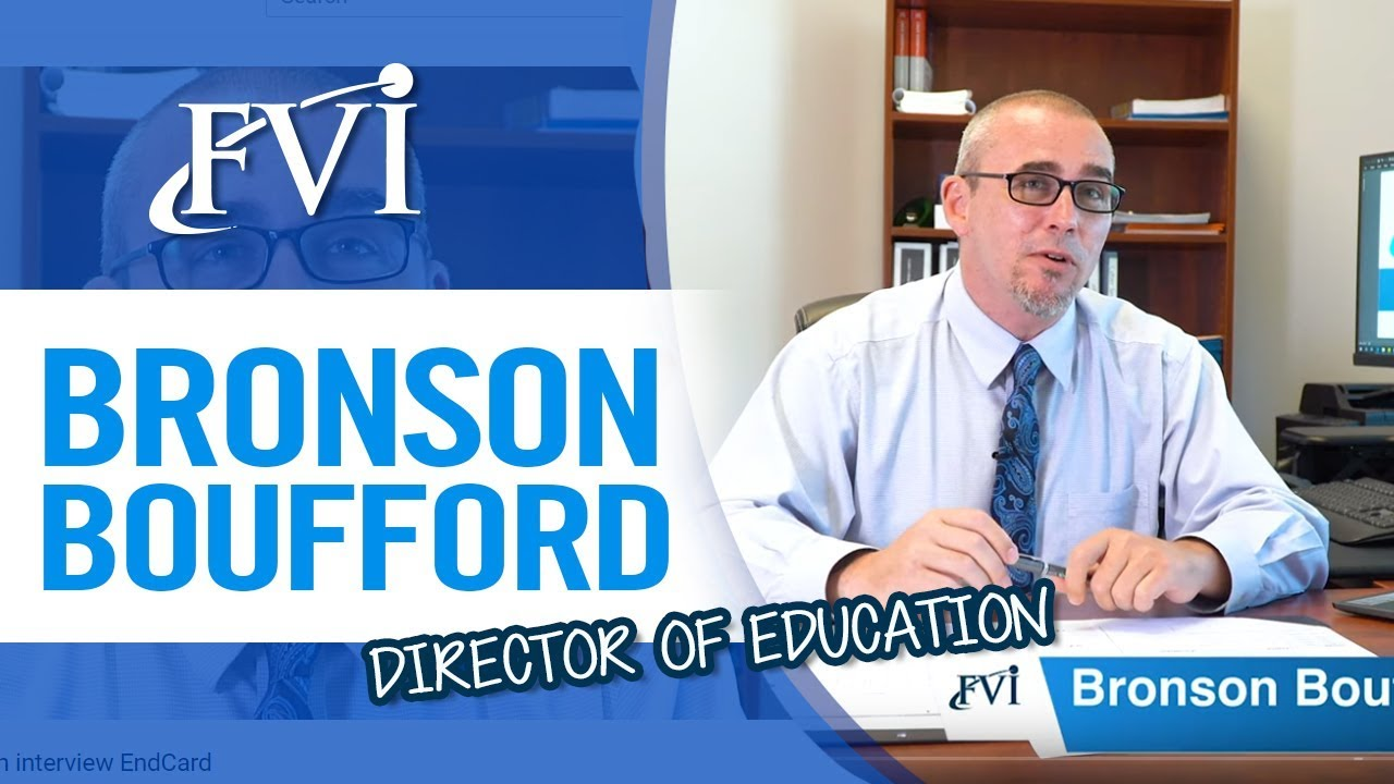 Meet Bronson Boufford. Director of Education