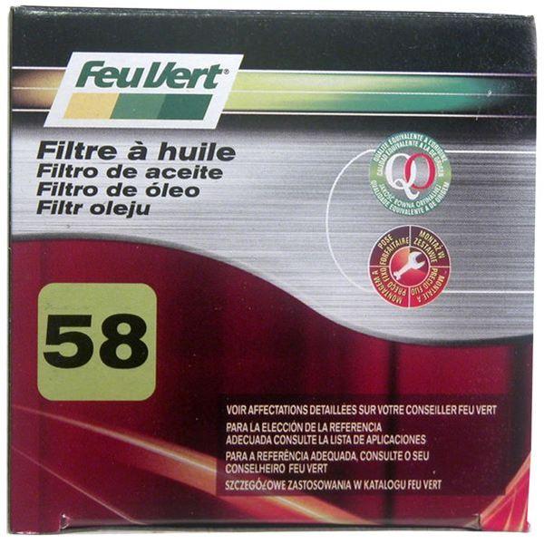 filtre a huile feu vert n 58