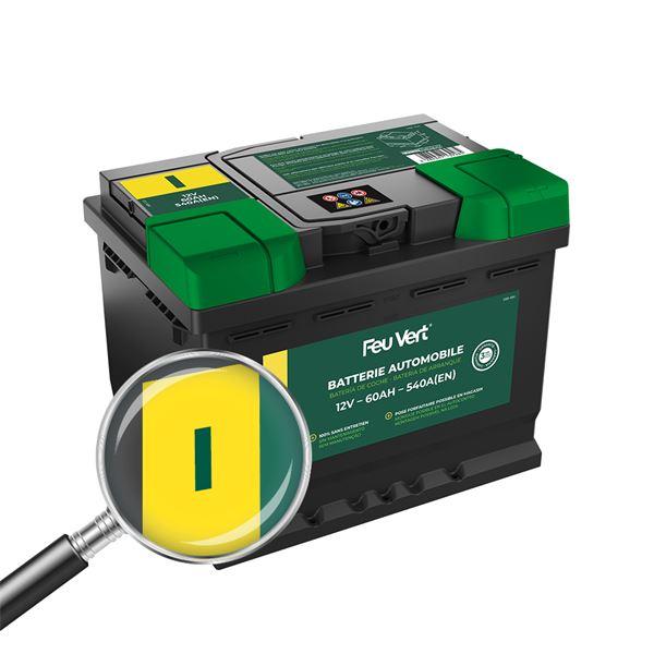 batterie voiture feu vert i 60ah 540a 12v