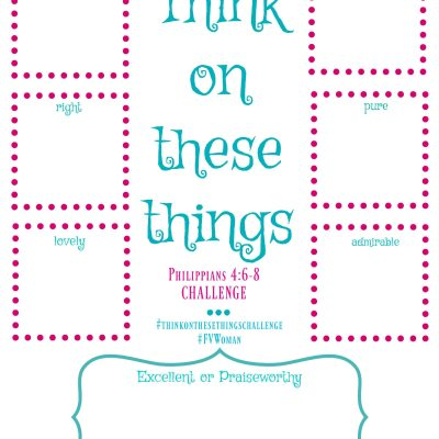 2017 Think On These Things Challenge