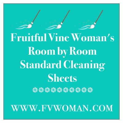 Standard Cleaning Sheets for Every Room