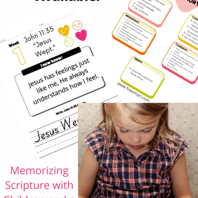 Memorizing Scripture with Children and a New Scripture Pack!