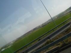 スペイン旅行 ツアーバスの車窓から