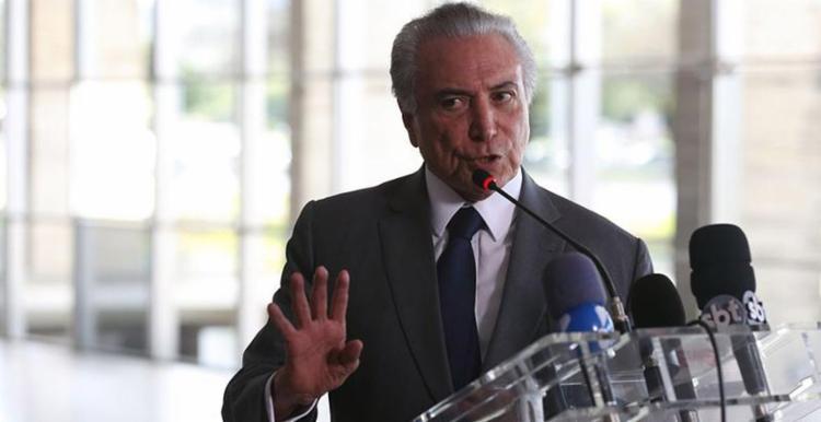 Temer tentou passar uma mensagem de otimismo - Foto: Valter Campanato l Agência Brasil