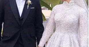تهنئة العروسين نسمة زيدان ومحمد متولي بالزفاف السعيد