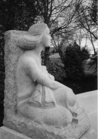 George Washington Memorial, Fall River, MA, Frederick Warren Allen, Sculptor, 1942, Seated Girl detail