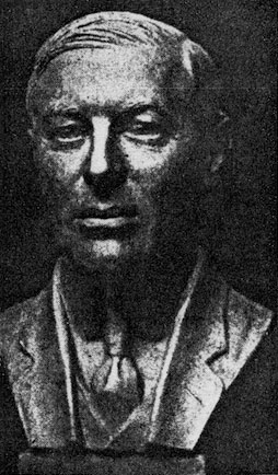President Woodrow Wilson, final bronze portrait, half life size, F. W. Allen, sculptor, 1940.