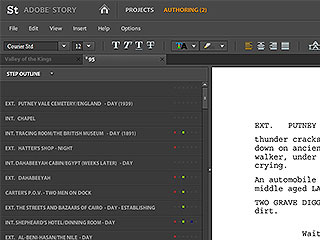 adobe story screen pic