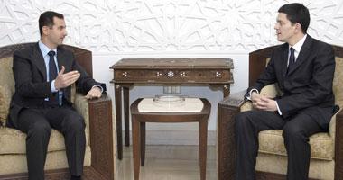 President Basha Asad meets UK's Miliband