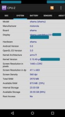 Motorola Shamu Nexus 6 specs CPU-Z screenshots leaked_2