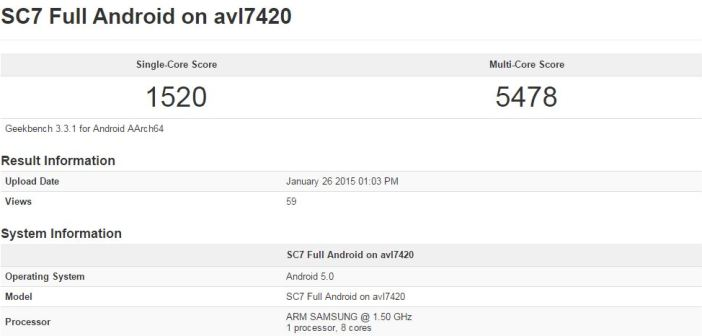 Galaxy S6 geekbench
